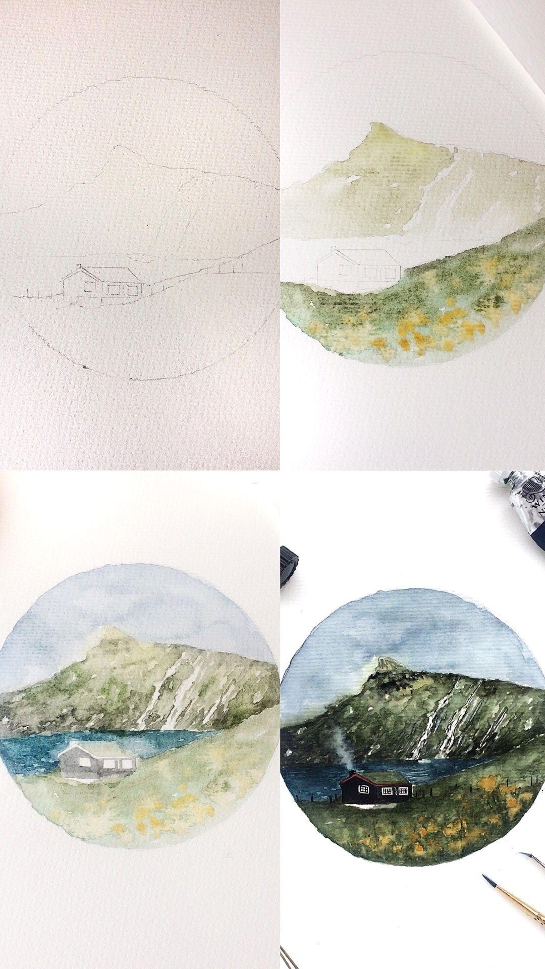 Rosies Sketchbook Watercolor Painting Process Photos Watercolor