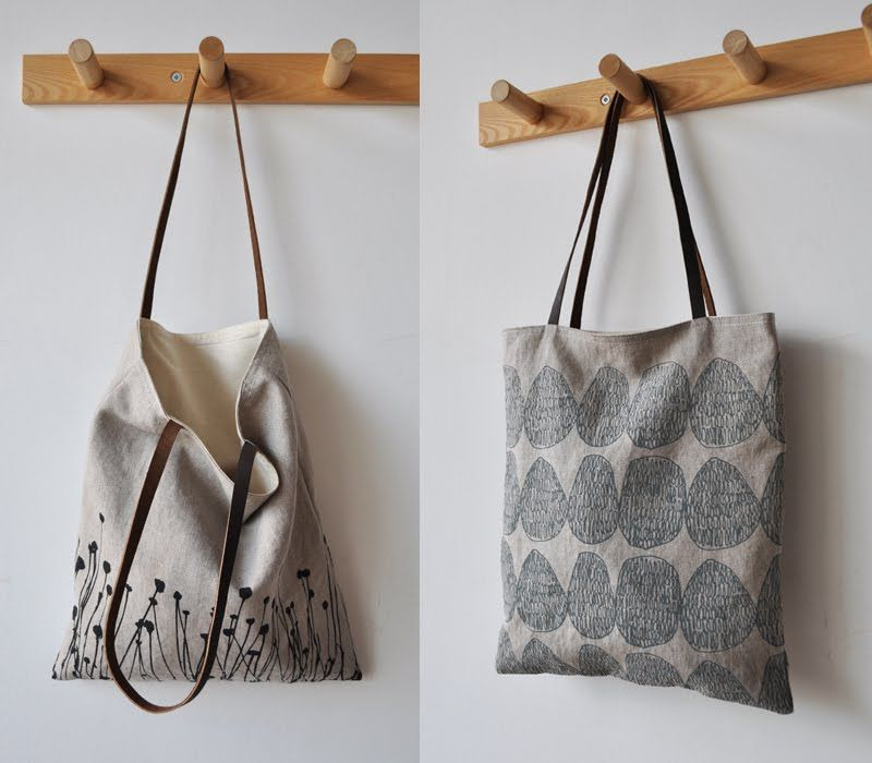 the tote is cute, but I like the coat hooks. Dowels and some wood ...