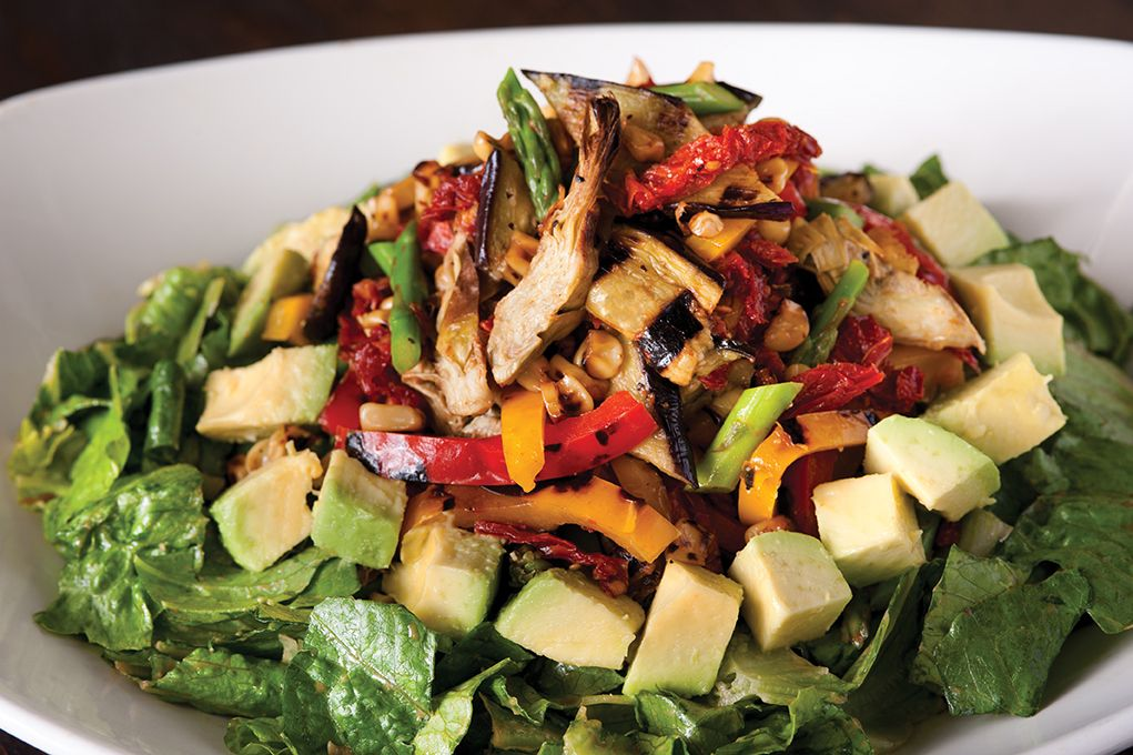 Roasted Veggie Salad from California Pizza Kitchen, yum!! Turbo
