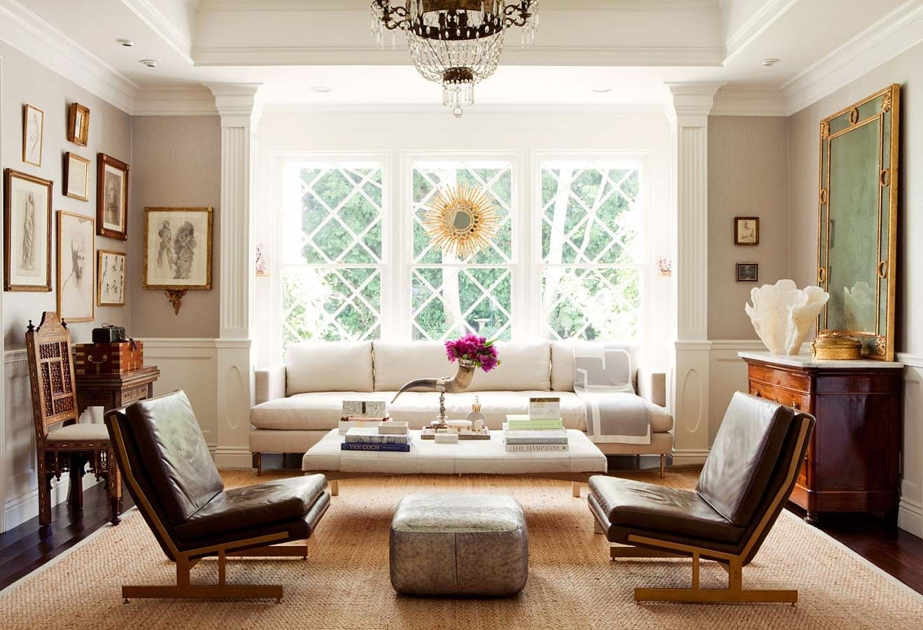 living room ideas with leather furniture%0A Color Outside the Lines  Decor Two Ways