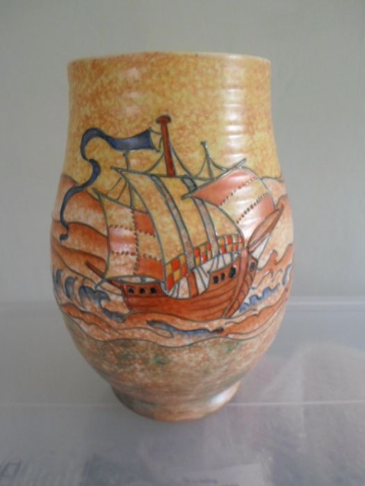 Buy Charlotte Rhead Galleon Vase Stock Antiques Young Guns Www