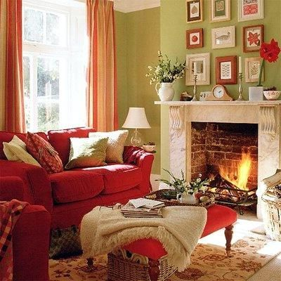 Fresh Color Combo Of Shades Red And Sage Green