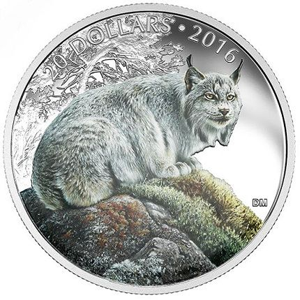 CANADA ANIMALS IN THE MOONLIGHT COUGAR SILVER 30$ 2017