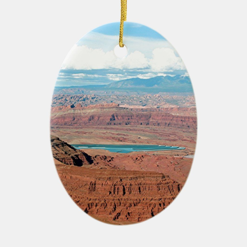 Dead Horse Point State Park, Utah, USA 6 Ceramic Ornament