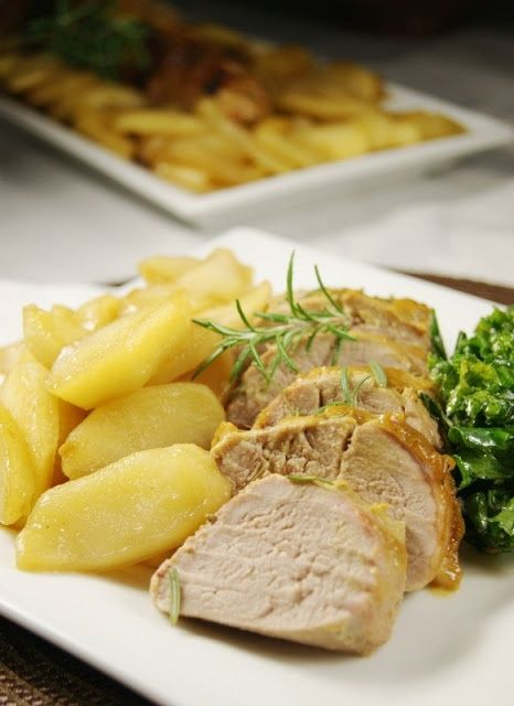 Apple Mustard Pork Tenderloin -Nutrition facts: Calories: 182 kcal; Fat: 6 grams;