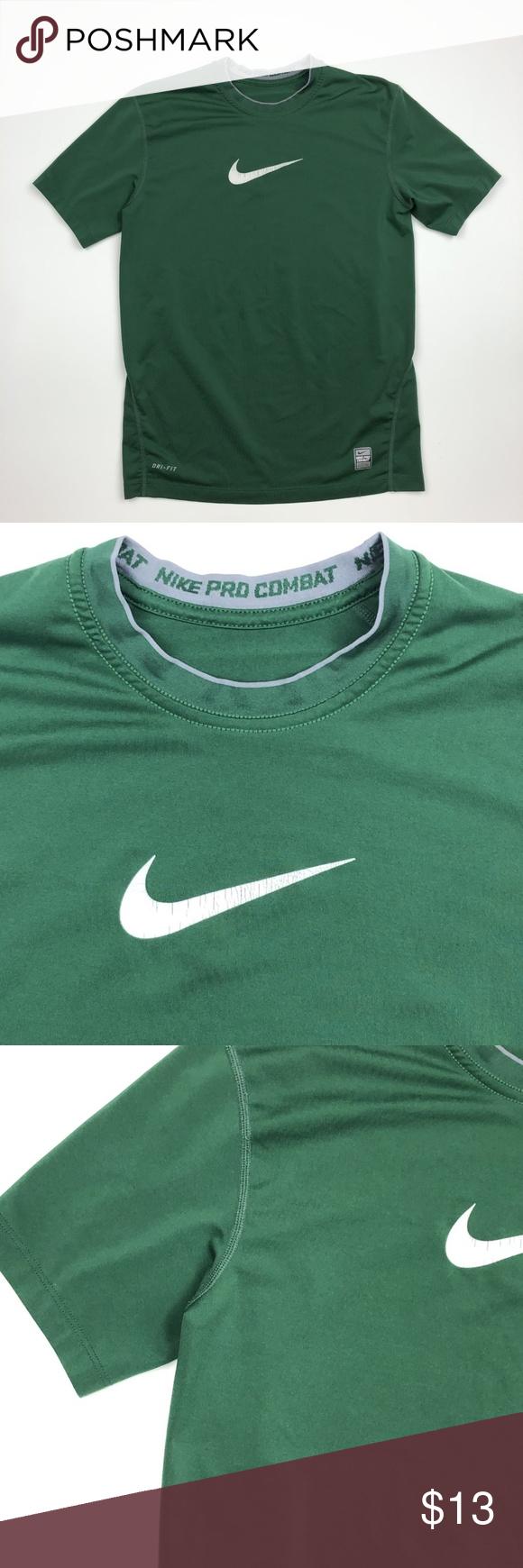 Nike Pro Combat Boys T Shirt Size S Green Se13 Boys T Shirts Nike Pro Combat Shirts [ 1740 x 580 Pixel ]