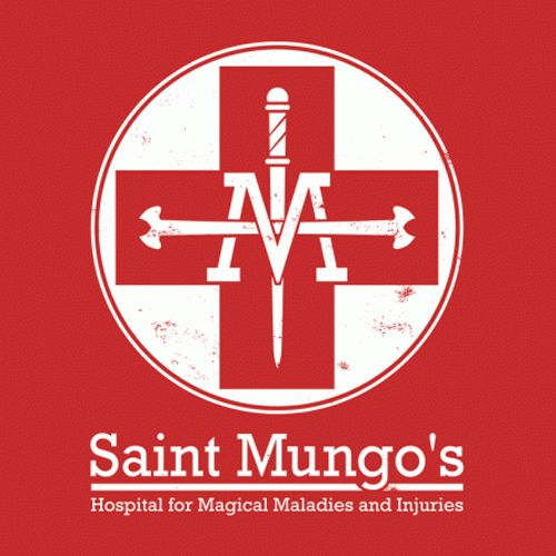 Saint Mungo S Hospital Harry Potter T Shirt Harry Potter Tshirt Harry Potter Logo Harry Potter Stickers
