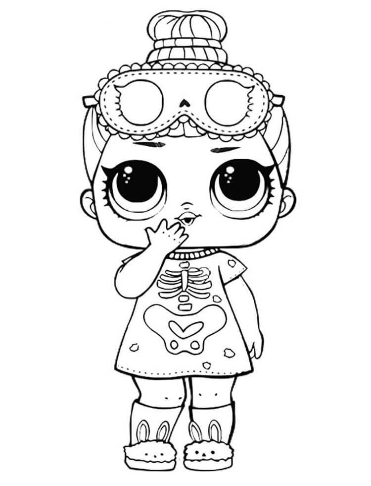 Sleepy Bones Lol Doll Coloring Page To Print Halloween Coloring