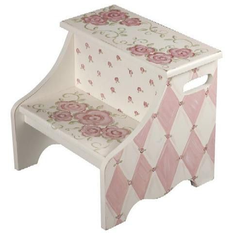 Rose in Gray Step Stool This kids step stool is hand painted and made of wood composite. Personalize your unique step stool with your childu0027s name u2026  sc 1 st  Pinterest & Rose in Gray Step Stool This kids step stool is hand painted and ... islam-shia.org