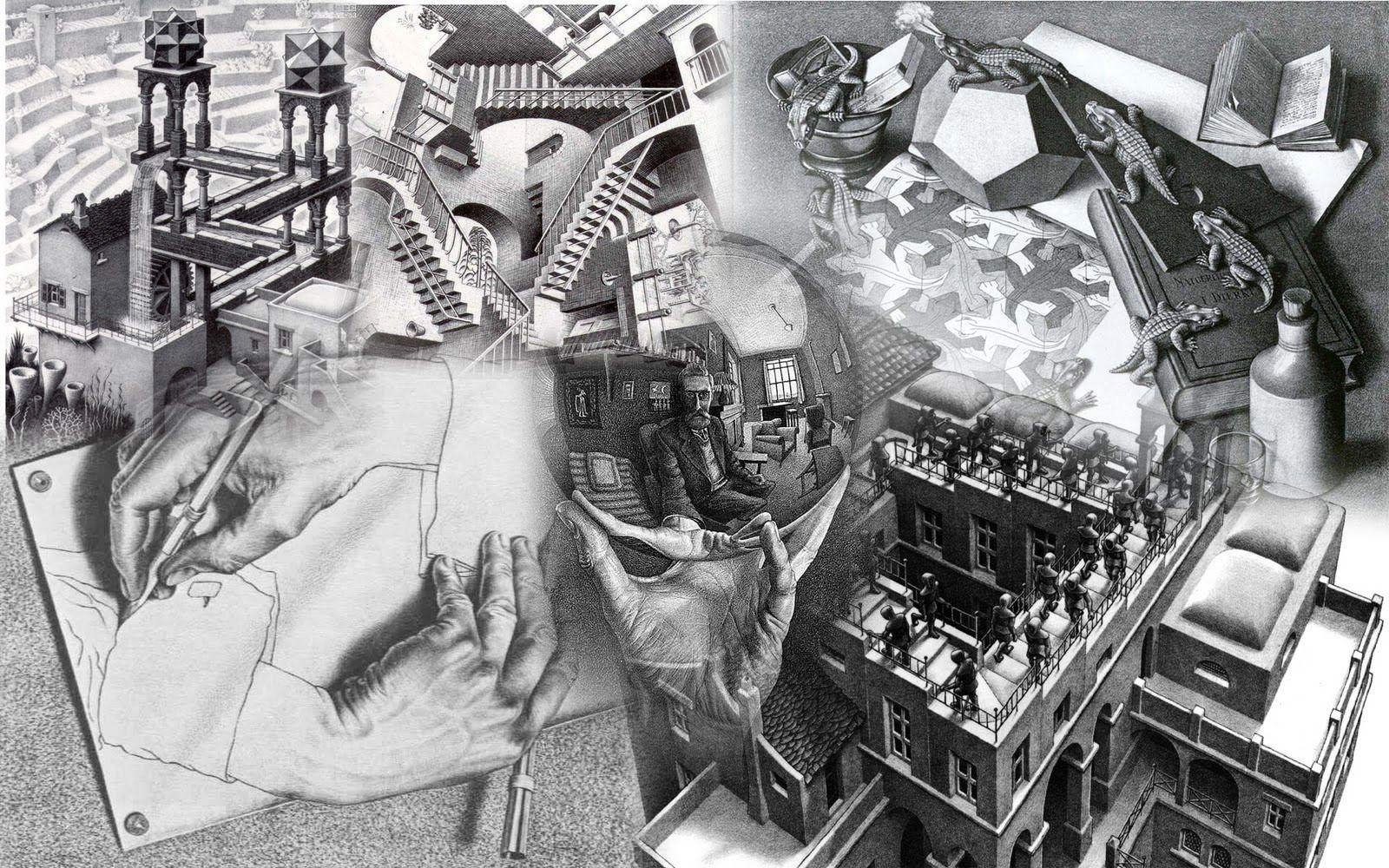 013 M C Escher Via Pensaryaprender Blogpot Mc Escher Art Wallpaper