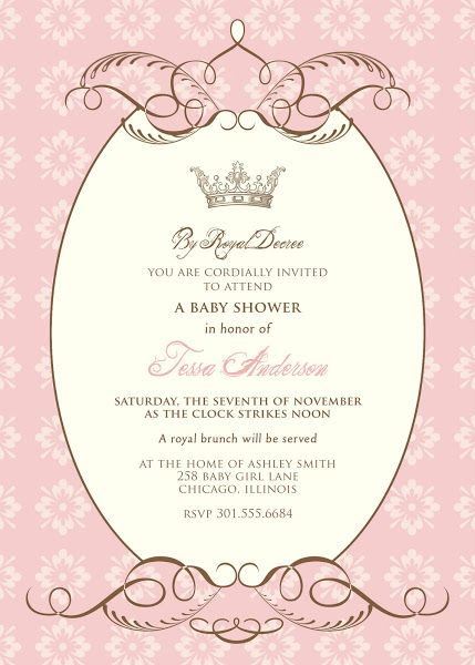 By Royal Decree Baby Shower Invitation Party Themes Pinterest - Royal birthday invitation template