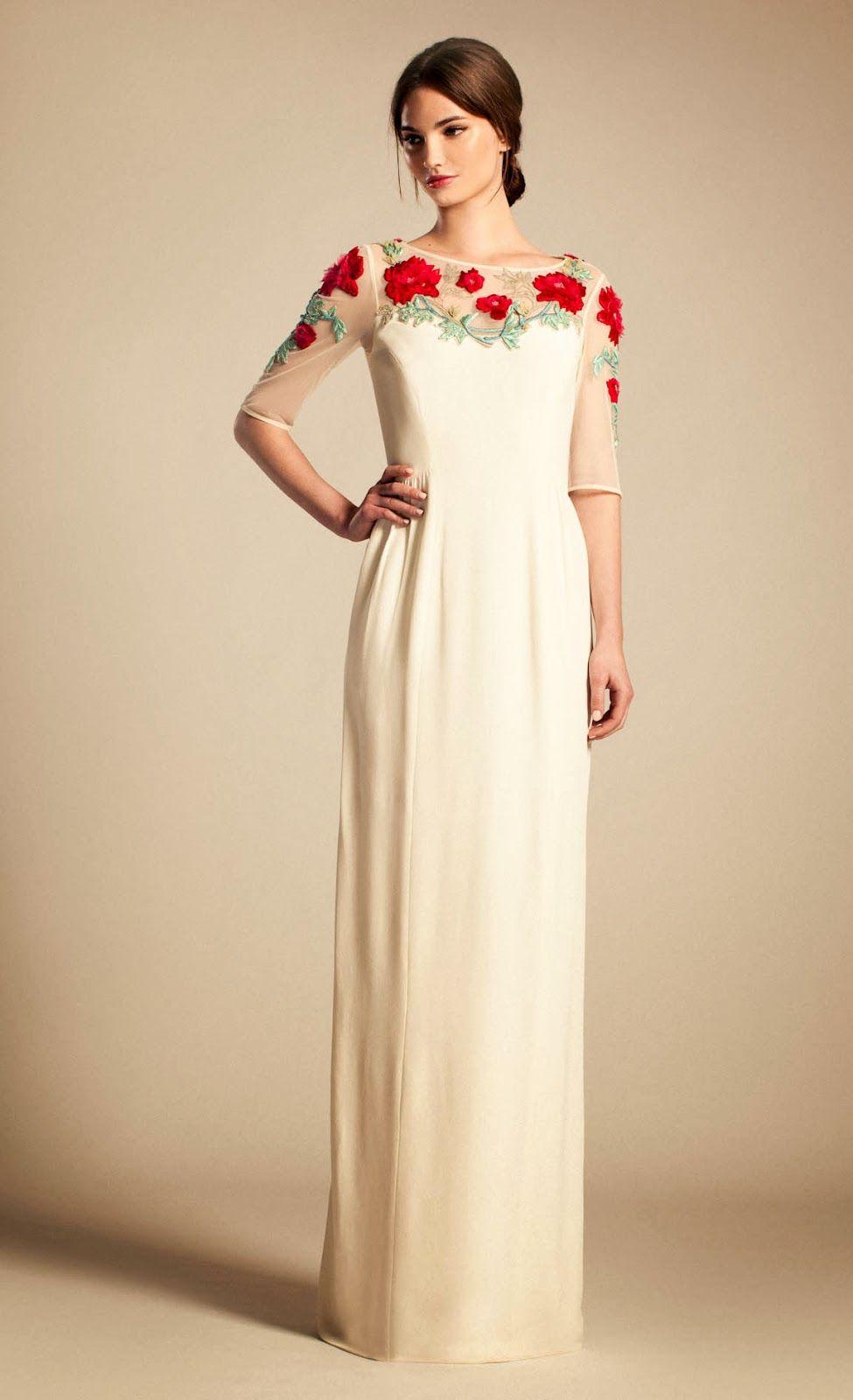 Maravillosos Vestidos bordados para ti | punto de cruz | Pinterest ...