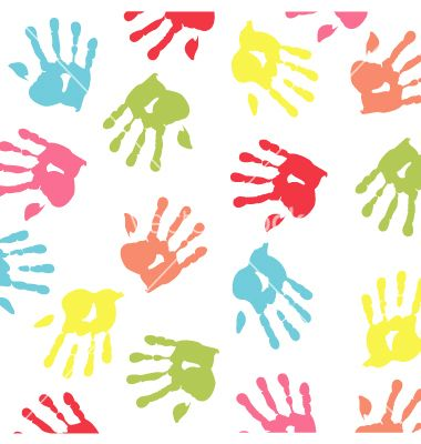 Baby handprint wallpaper vector | VectorStock - Clipart Love ...