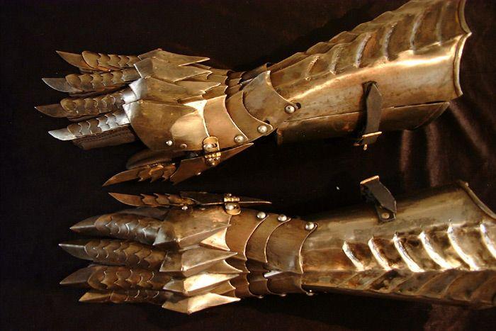 X-mas Nazgul Guantelete medieval armadura de acero de Plata Señor De Los Anillos Lotre Guantes