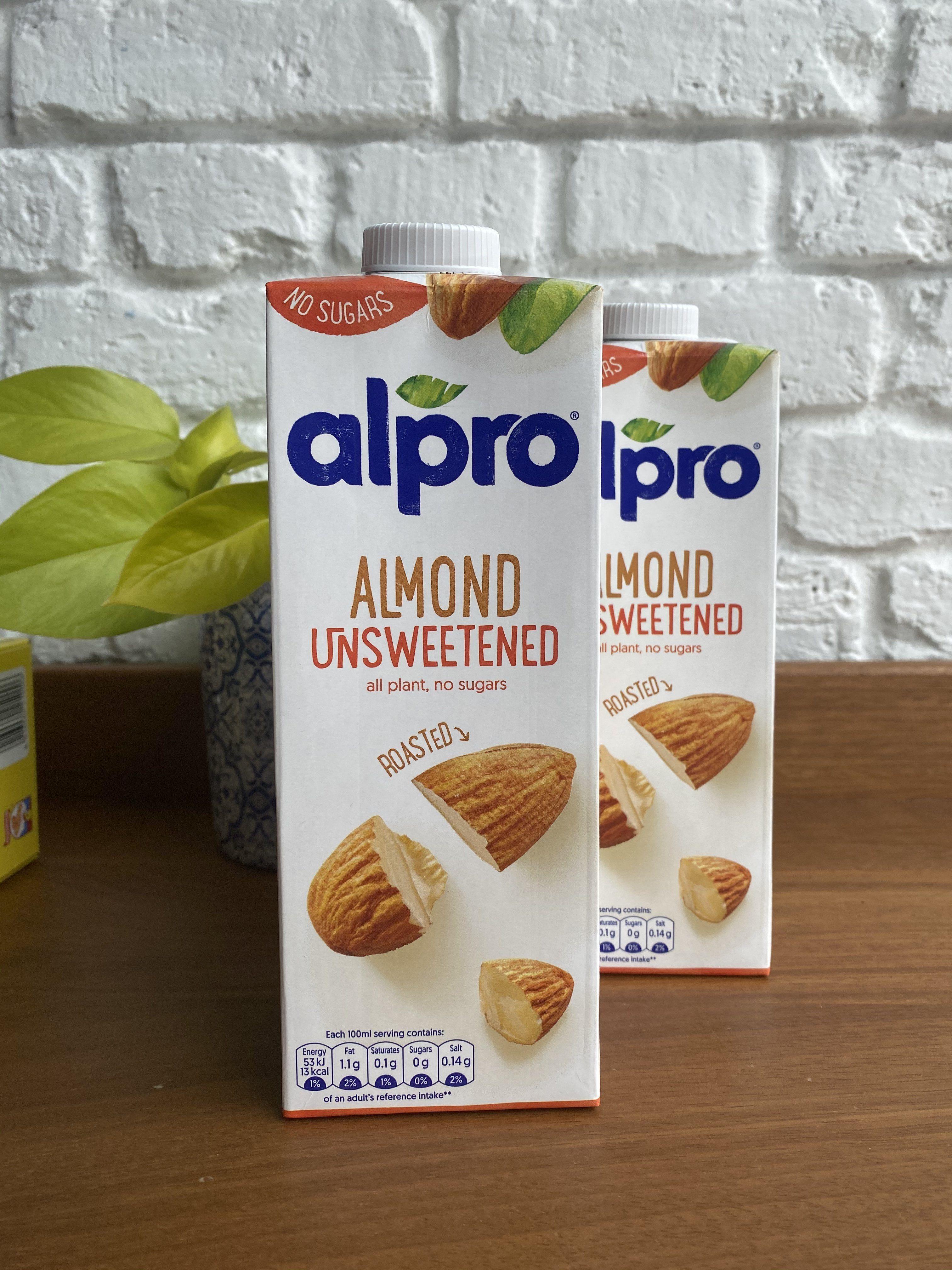 Almond milk (unsweetened) - 2 cartons