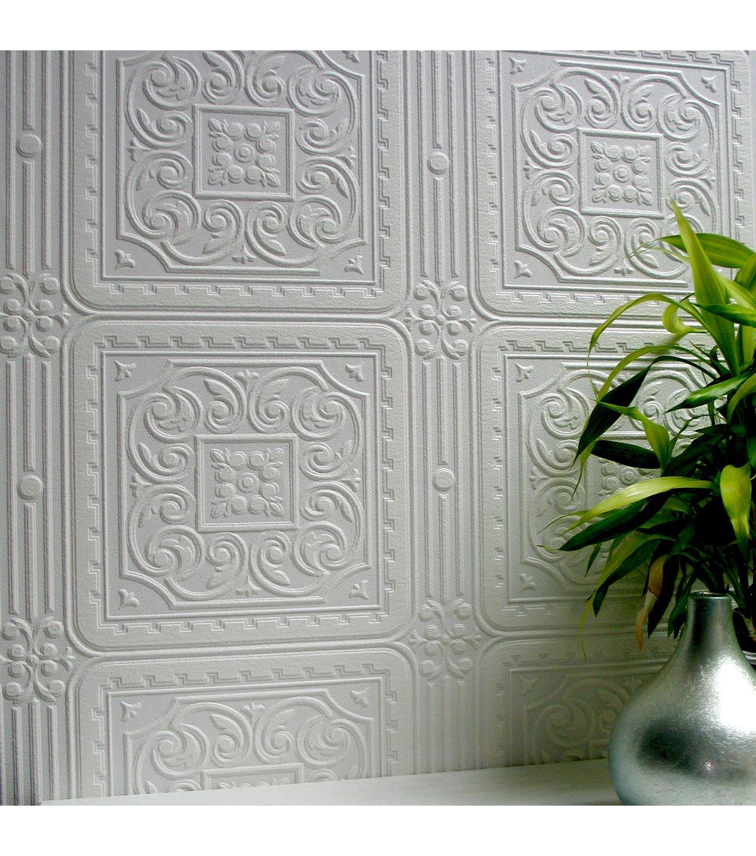 Turner Tile Paintable Textured Vinyl Wallpaper Joann Paintable Textured Wallpaper Anaglypta Wallpaper Paintable Wallpaper