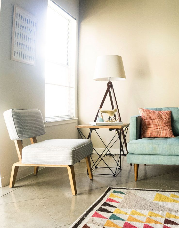 Sala de visitas colorida estilo anos 50 casa viva for Mobilia anos 50