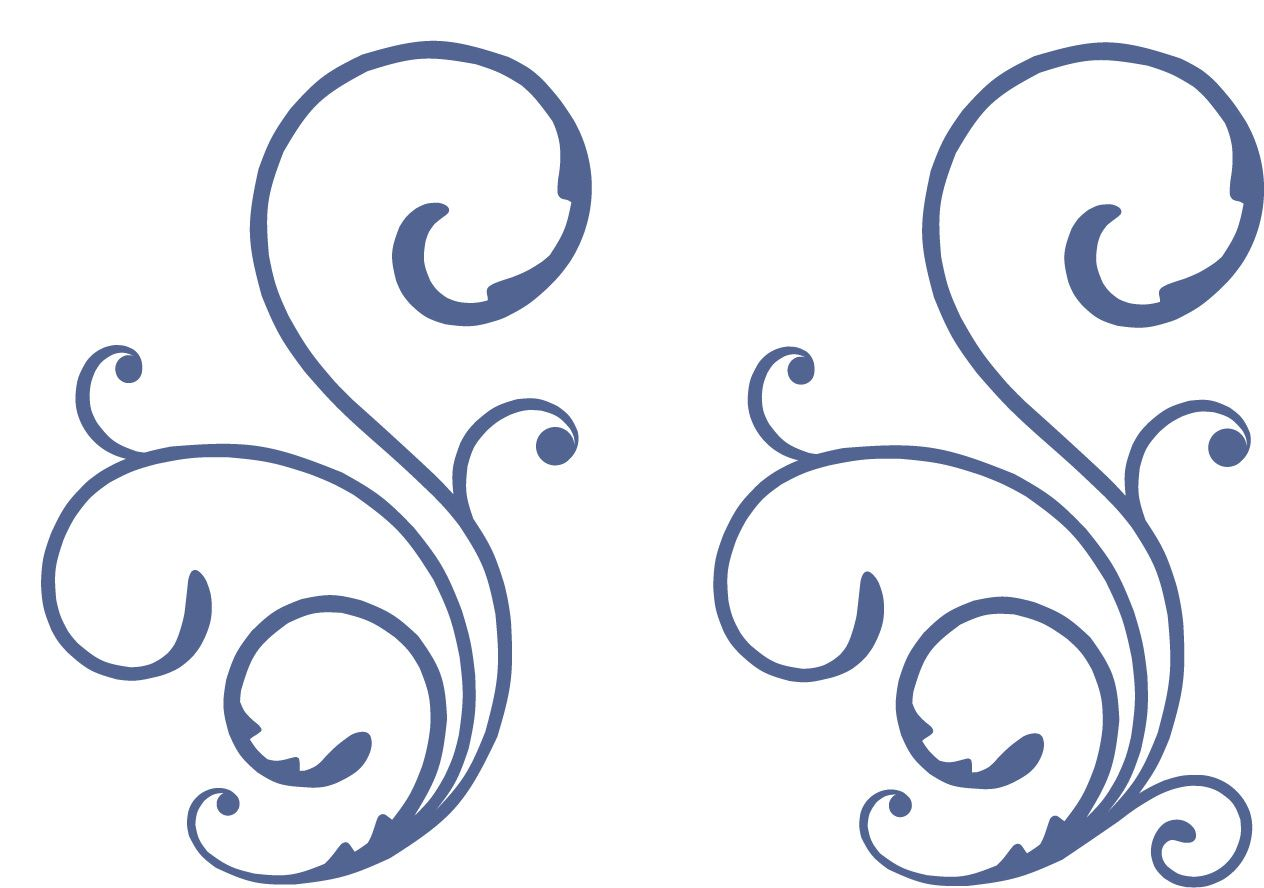 decorative swirl svg cut file