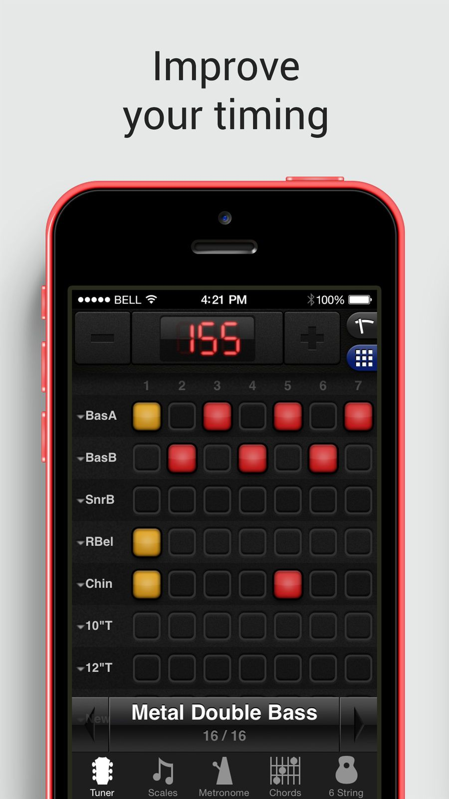 GuitarToolkit tuner, metronome, chords & scales on the