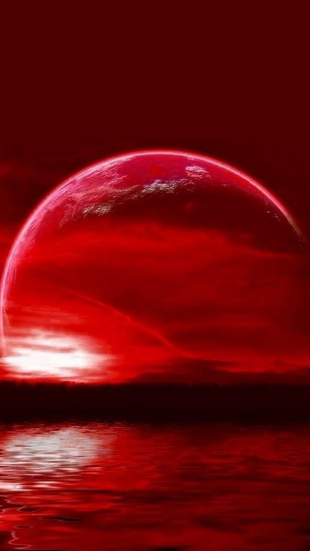 Super Moon Lunar Eclipse IPhone Wallpaper