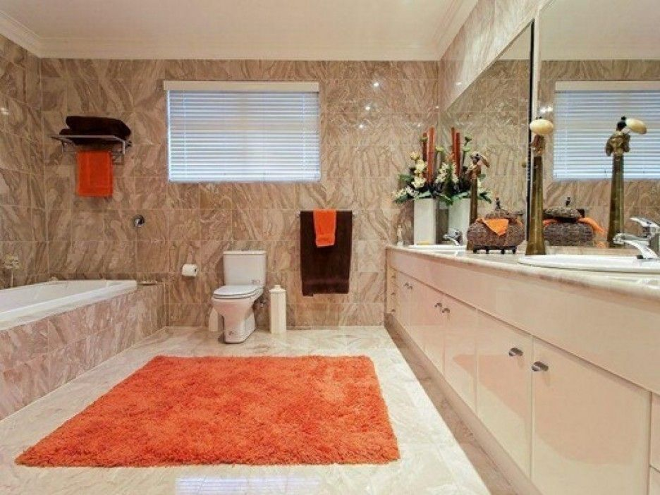 Bathroom Remodel Mesmerizing Of Bathroom Remodel Kansas City With Red Carpet Large Mirror On The Vanity With Long Beige Color Smooth Faux Wall Paint With