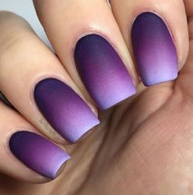 29 Gradient Nail Designs You Must Try Purple Nail Designs Gradient Nail Design Matte Nails Design