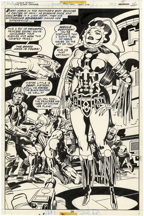jack kirby how to draw black panther