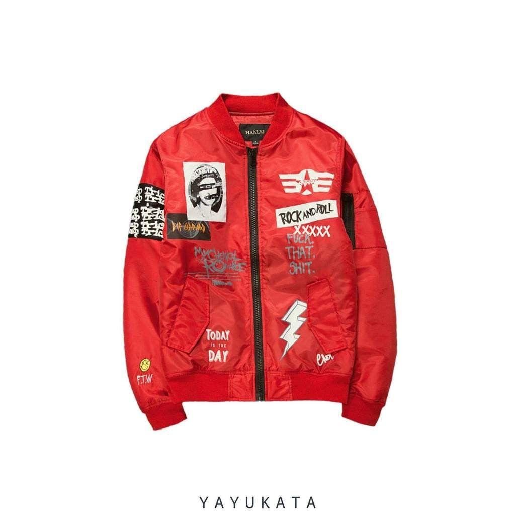 Harajuku Ma1 Retro Bomber Jackets Fashion Casual Jackets Men Fashion Bomber Jacket Fashion [ 1024 x 1024 Pixel ]