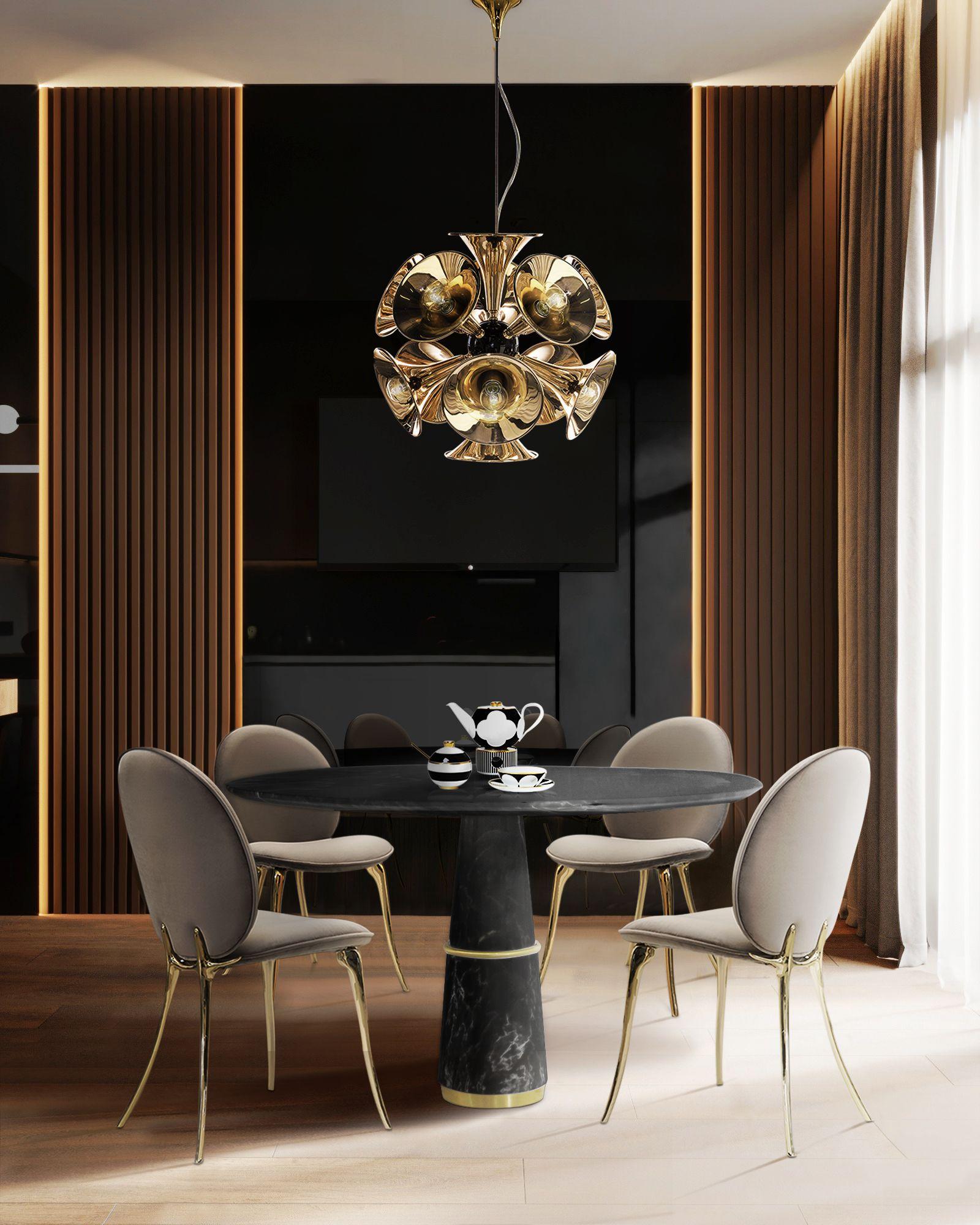 Trendy Lighting Designs For 2020 In 2020 Luxury Dining Room Luxury Dining Tables Dining Room Decor