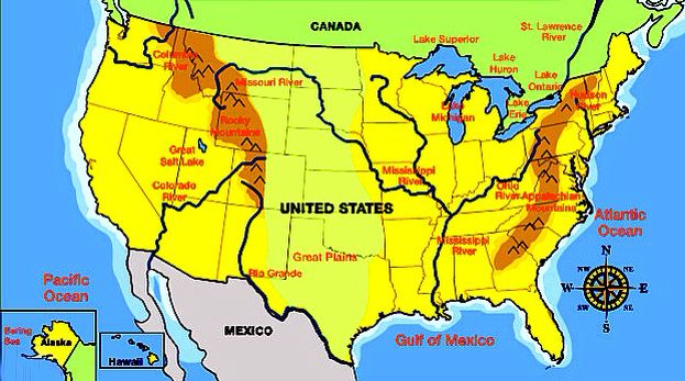 Us maps for third grade | Mountain range, Third grade, Mountains
