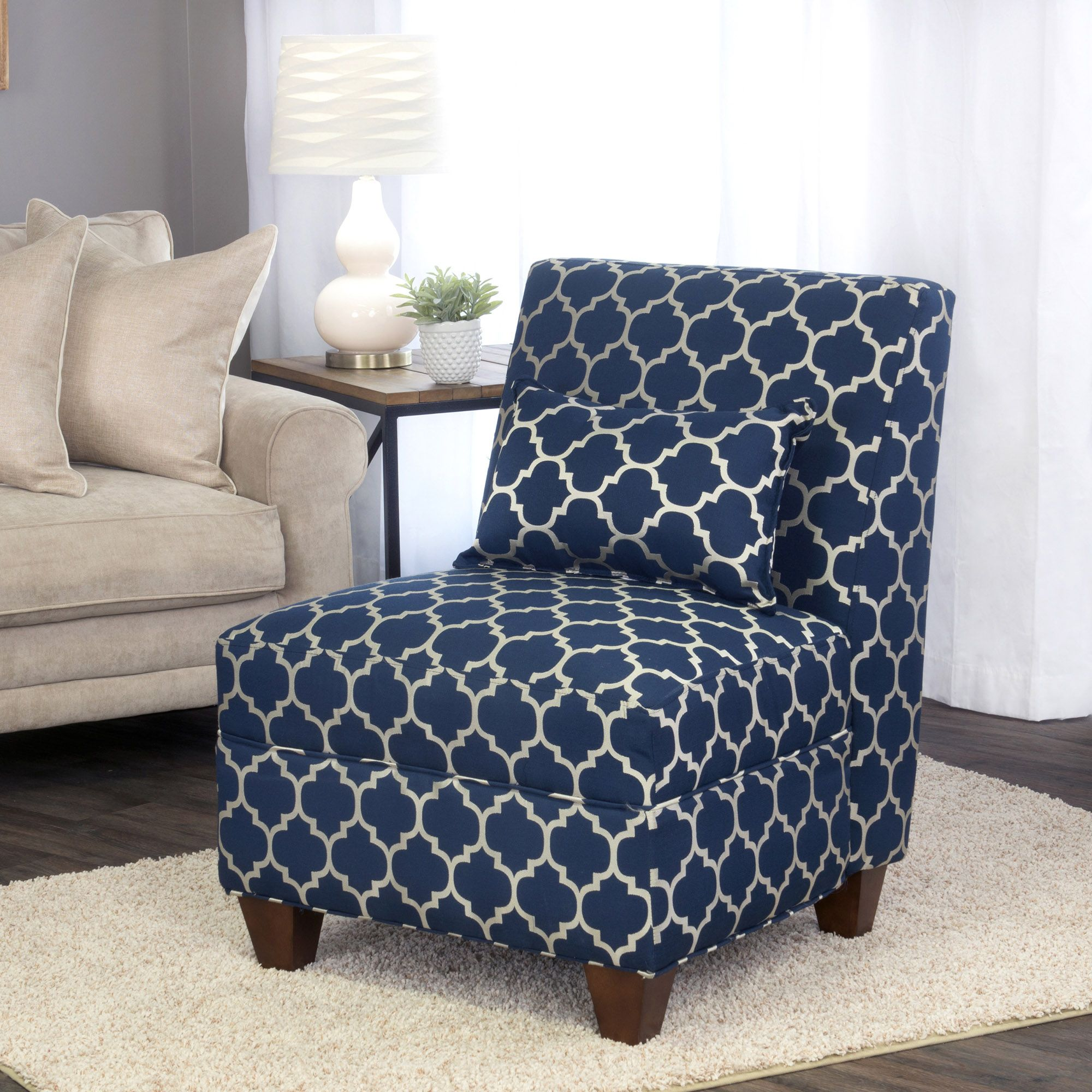 Charlotte accent chair navy homepop