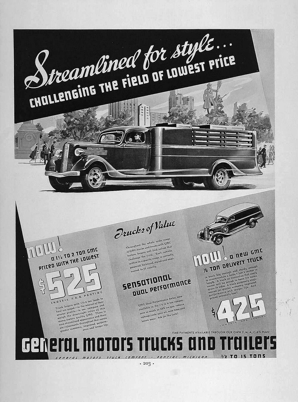 1936 GMC Ad Motor truck, Trucks, General motors