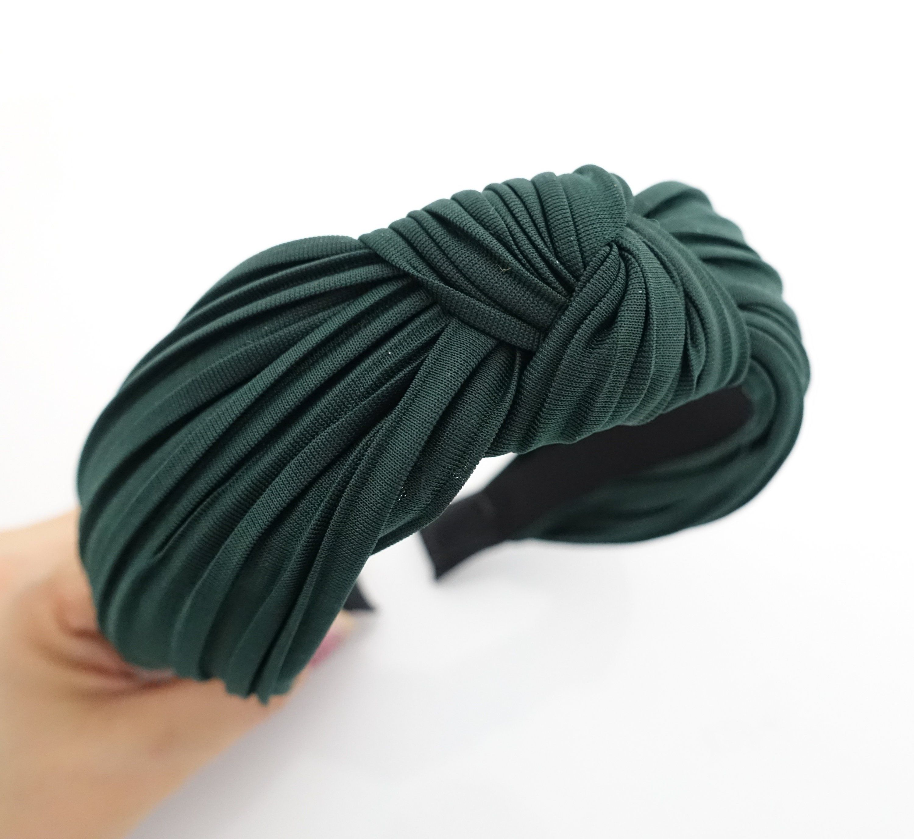 Solid pleated knot headband women hairband hair accessory