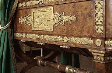 berceau du roi de rome aux tuileries 1811 d cors de bronze par thomire fontainebleau mus e. Black Bedroom Furniture Sets. Home Design Ideas