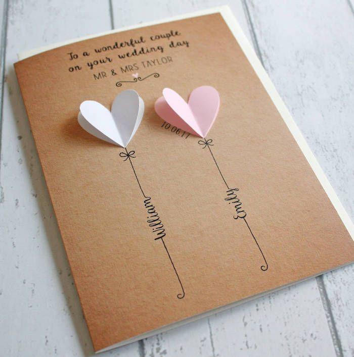 ▷ 1001 + DIY Ideen und Anleitungen zum Hochzeitskarte basteln  – Hochzeit