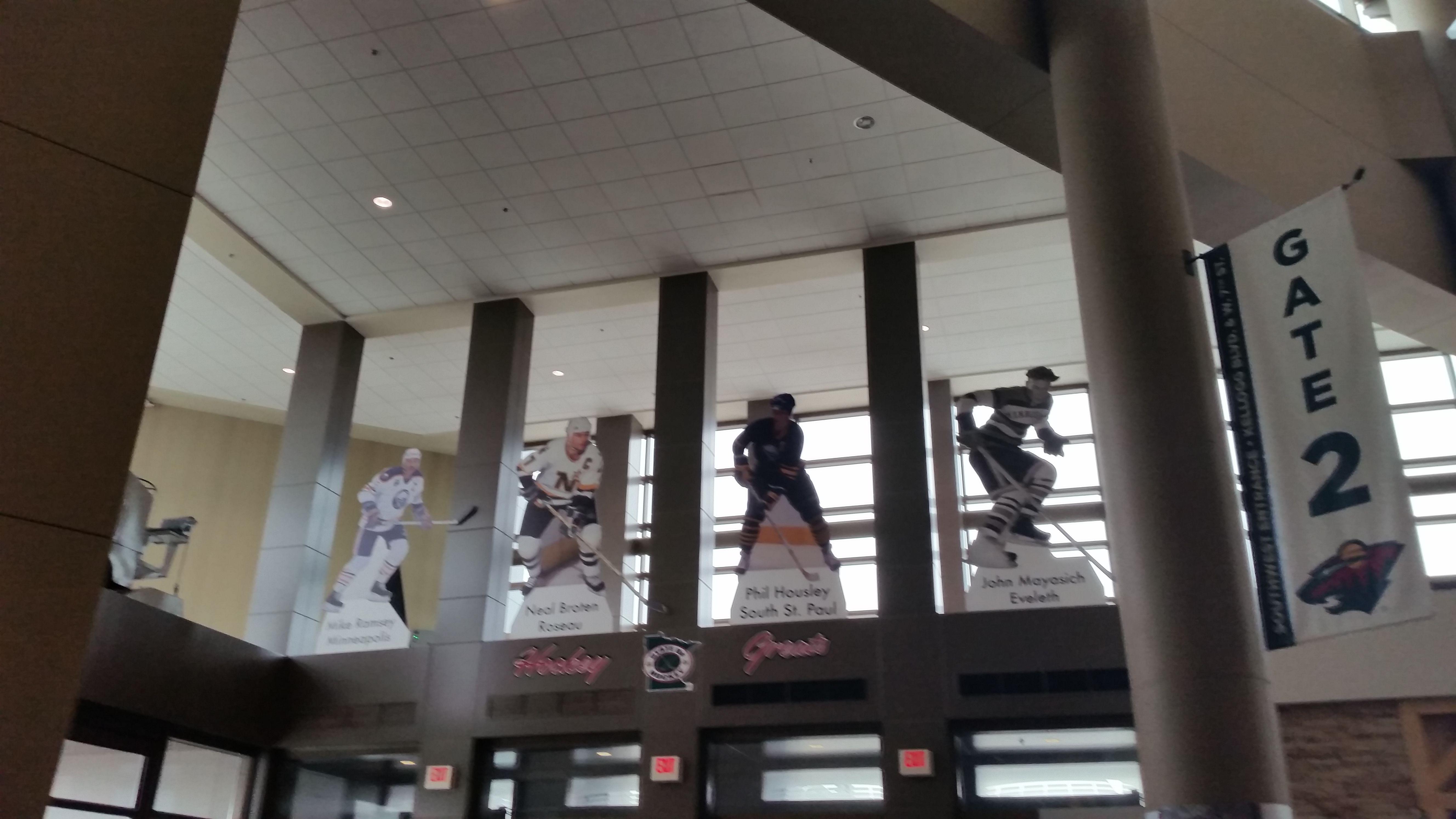 State Of Hockey Waving Flag Framed - Tour Xcel Energy