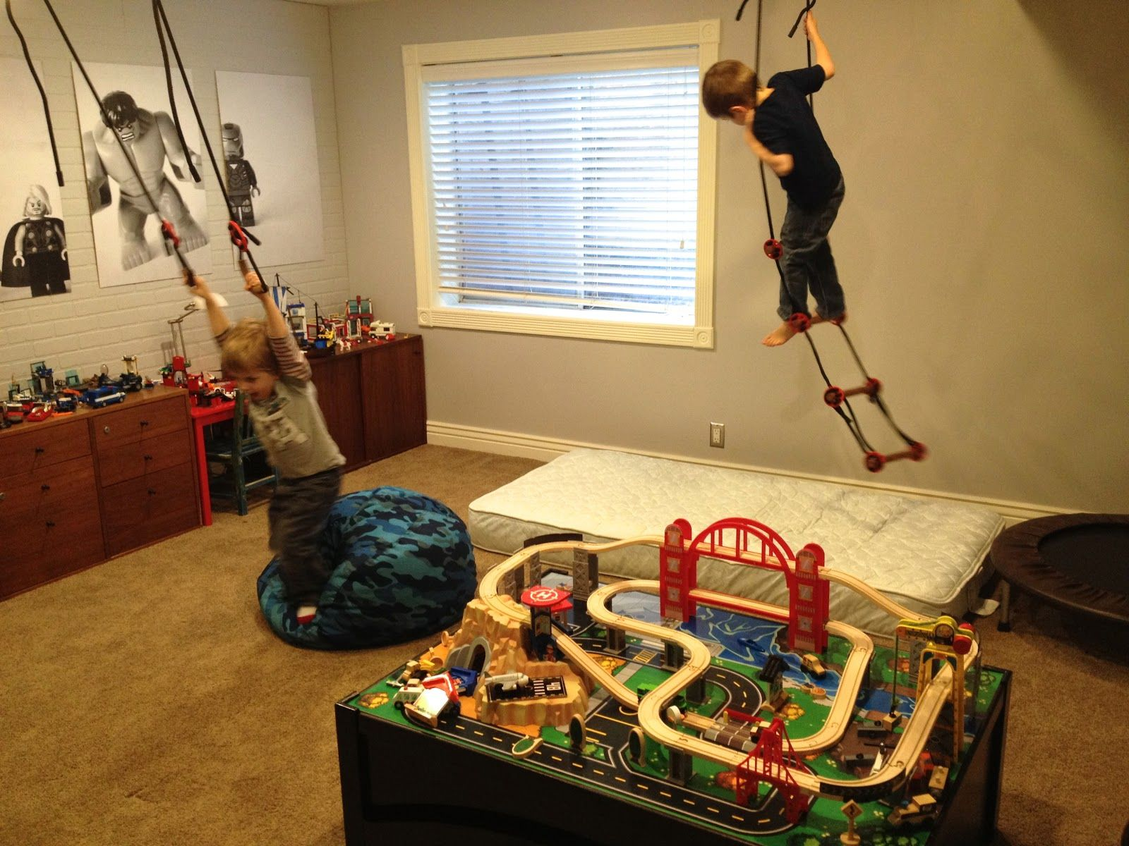 Great Idea For Indoor Play Area
