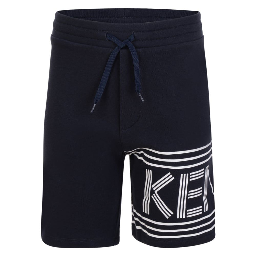 d7ebc8e93662 Kenzo Kids Boys Navy Cotton Shorts with White Branded Text