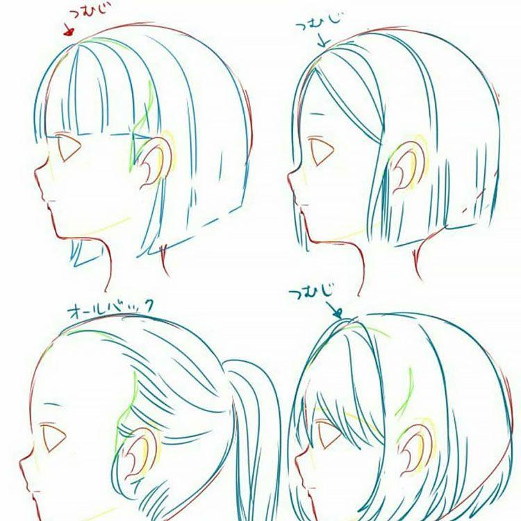 22 how to draw hair stepbystep tutorials beautiful