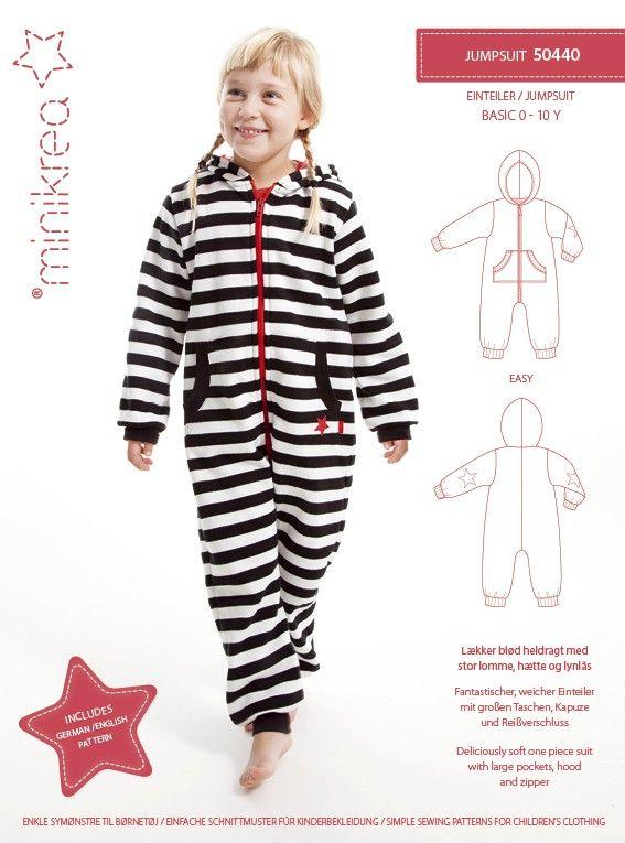 Naaipatroon jumpsuit voor 0 tot 10 jaar | Naaien | Pinterest | Nähen ...