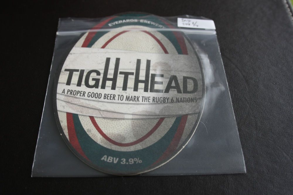 2014 Beermat Everards (Leicester) Cat 298 (1S10) 8/14) , Rugby 6 nations