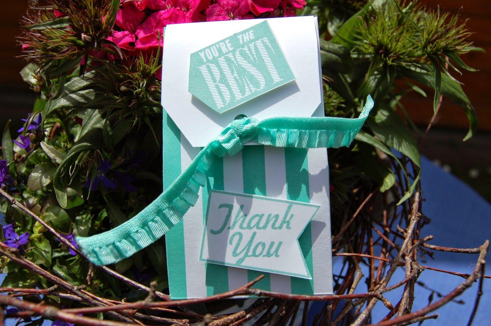Heike's Stempel-Werkstatt: Kleines Dankeschön für die Gastgeberin