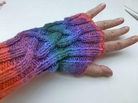 Stricken lernen * Armstulpen zusammennähen mit Matratzenstich