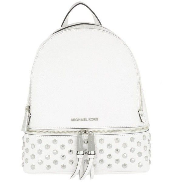 2bc5c70445b1 Michael Kors Shoulder Bag - Rhea Zip MD Backpack Optic White - in... ($395)  ❤ liked on Polyvore featuring bags, backpacks, white, backpack shoulder bag,  ...