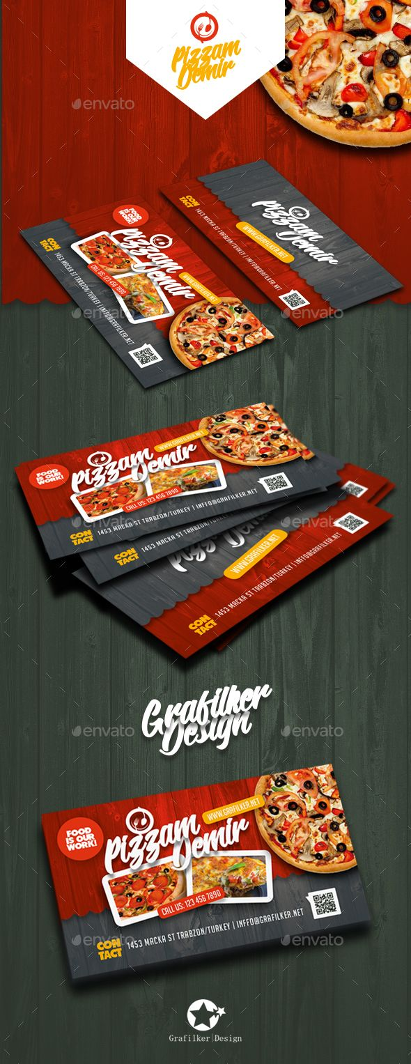 Restaurant Business Card Templates - Corporate #Business #Cards Download here: https://graphicriver.net/item/restaurant-business-card-templates/19538974?ref=alena994