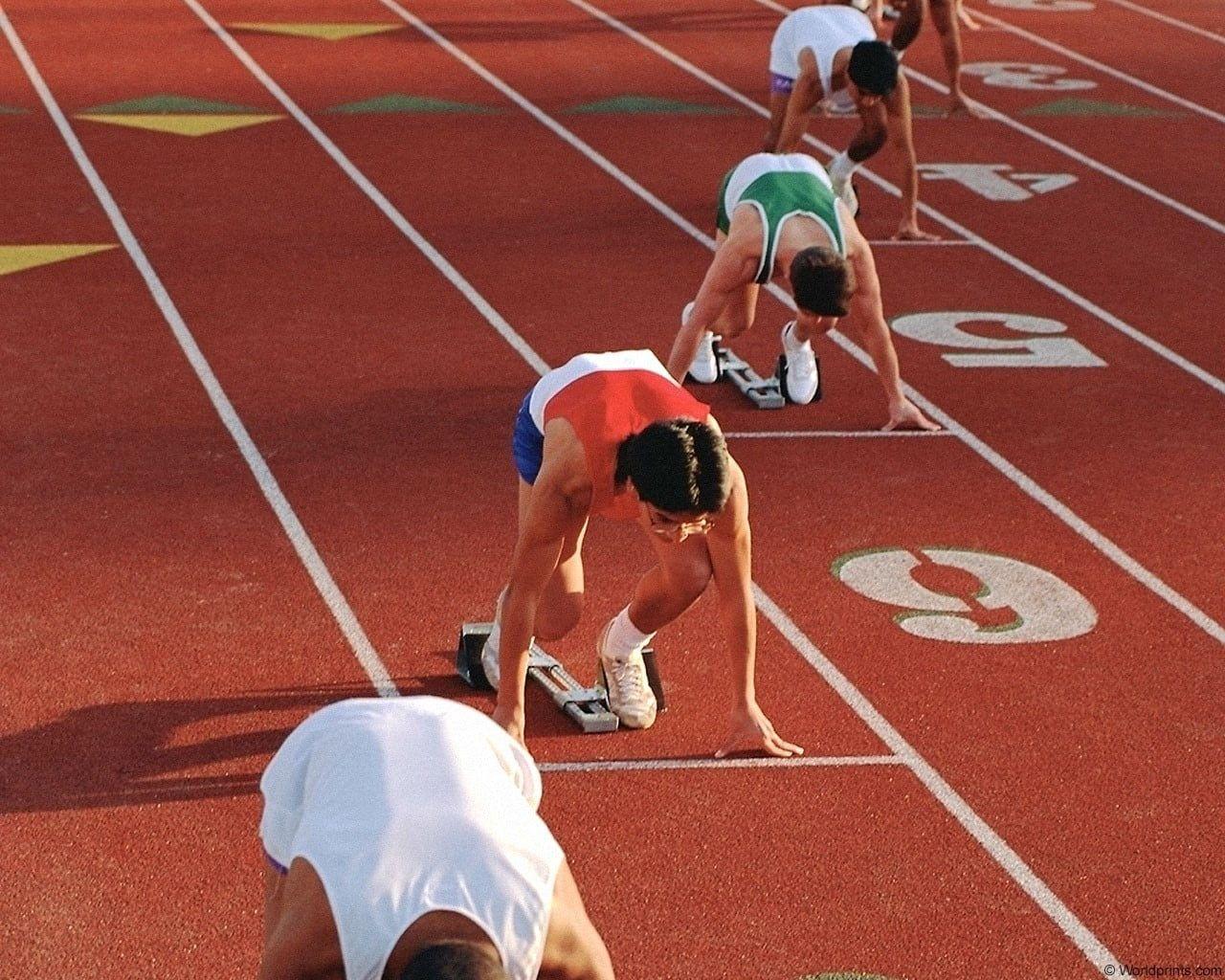Track And Field Athletics Start Run Stadium 720p Wallpaper Hdwallpaper Desktop In 2020 Track And Field How To Start Running Athlete