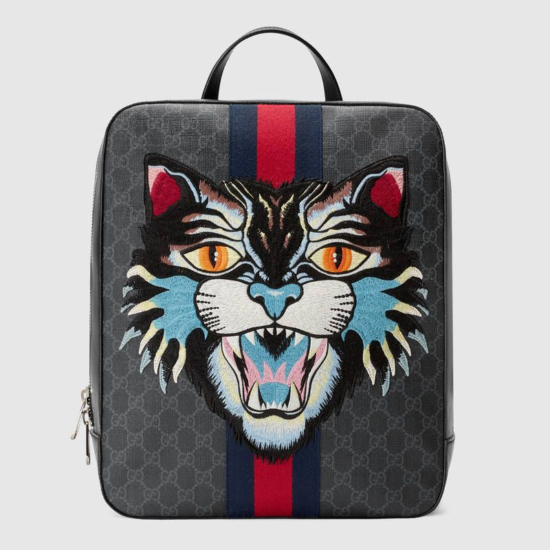 Gucci GG Supreme backpack with Angry Cat a63131aca15b6