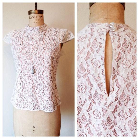 "Spotted while shopping on Poshmark: ""Vertigo Paris Lace Top""! #poshmark #fashion #shopping #style #Vertigo #Tops"