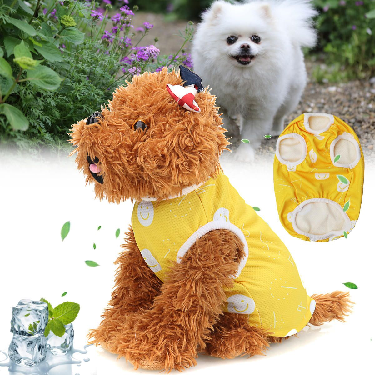 Pet T Shirt Dog Vest Coat Breathable Sunscreen Cooling Clothing