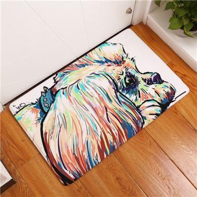 20 40x60cmlovely Painting Dog Print Carpets Anti Slip Floor Mat Outdoor Rugs Animal Front Door Mats Dog Door Mat Dog Flooring Painting Carpet